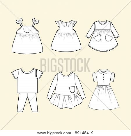 Baby Clothes Collection - Illustration