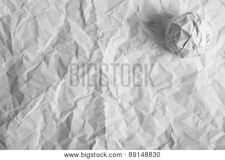 Wrinkled Paper With Paper Ball