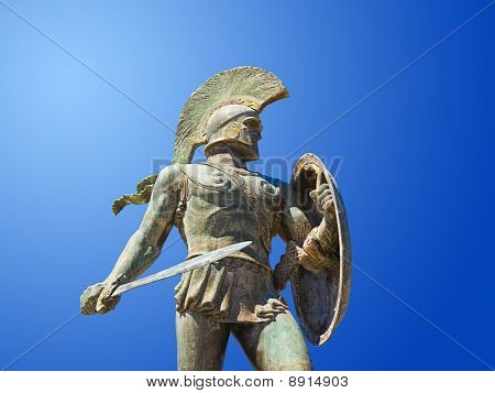 Statue Of King Leonidas In Sparta, Greece