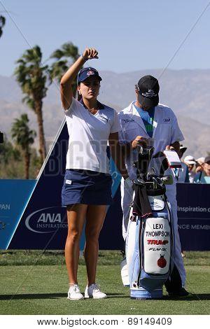 Lexi Thompson at the ANA inspiration golf tournament 2015