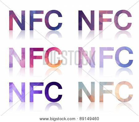 Set Of Polygonal Signs NFC
