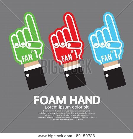 Set Of Foam Hand.