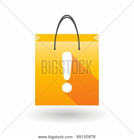 Yellow Shopping Bag Icon With An Exclamation Sign