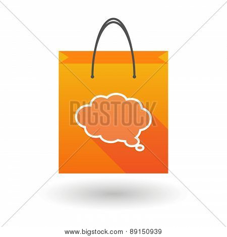 Orange Shopping Bag Icon With A Cloud Comic Balloon