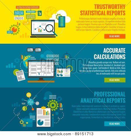 Data Analytics Banner Set