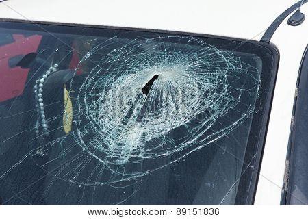 Car crash - Smashed Windshield