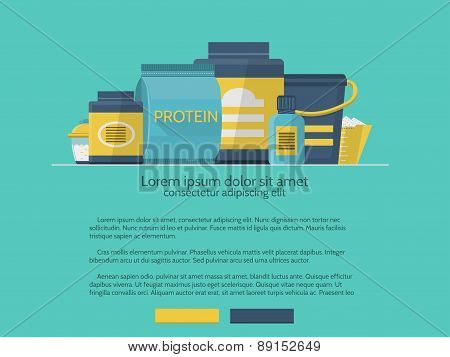 Sports supplements vector design element