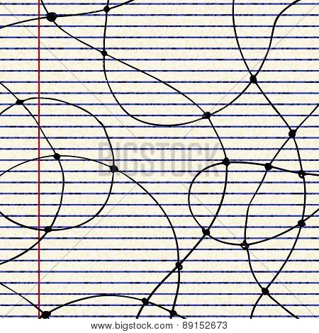 Curves Of A Sheet Of Lined Paper