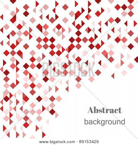Abstract Geometric Vector Background In Shades Of Red