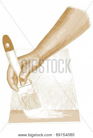 Hand With Brush