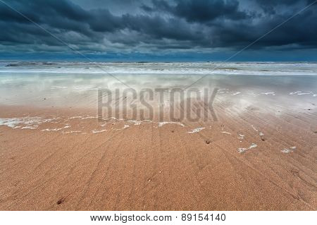 North Sea Coast At Storm