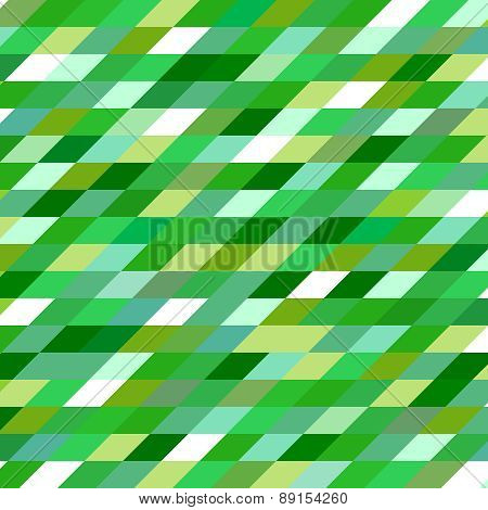Abstract Geometric Vintage Vector Green Background.