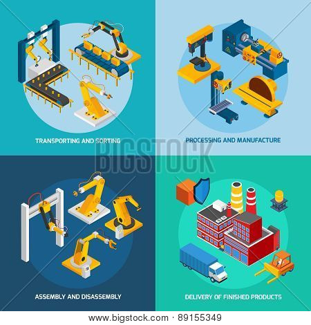 Isometric Robot Machinery