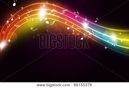 Music Dance And Party Multicolor Background
