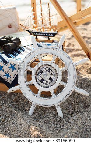 The White Wheel On The Beach