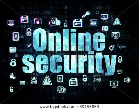 Privacy concept: Online Security on Digital background