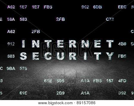 Safety concept: Internet Security in grunge dark room