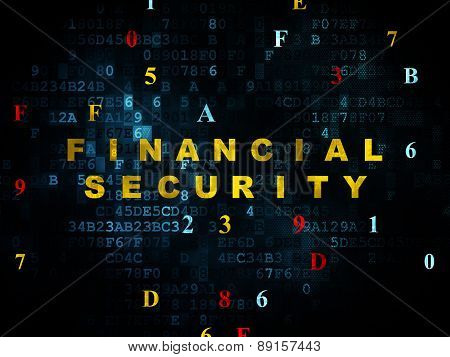 Privacy concept: Financial Security on Digital background