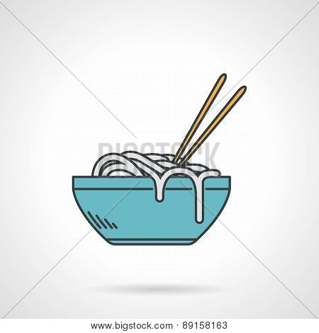 Flat vector icon for noodle dish