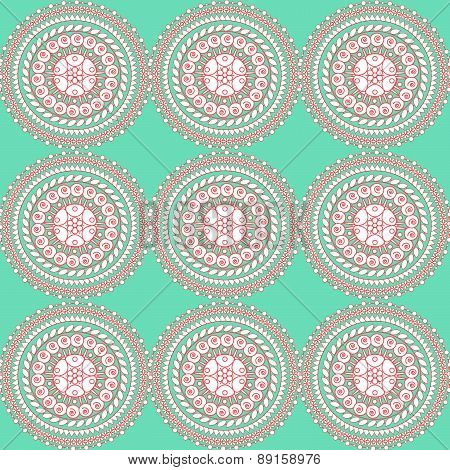 Seamless pattern. Texture with ornament circles