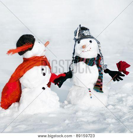 Couple of snowmen