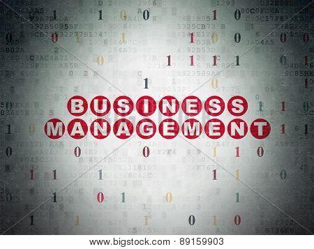 Finance concept: Business Management on Digital Paper background