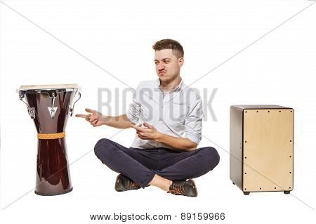 Djembe Cajon And The Guy