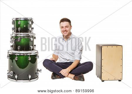 Djembe Drum And Near Men