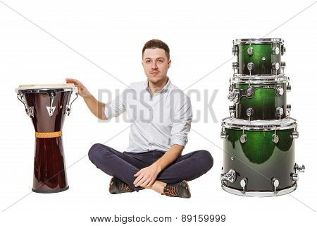 Djembe Drums And A Guy