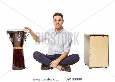 Man Chooses Djembe