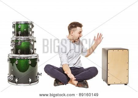 Man In Awe Of Cajon