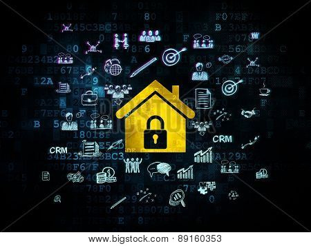 Business concept: Home on Digital background