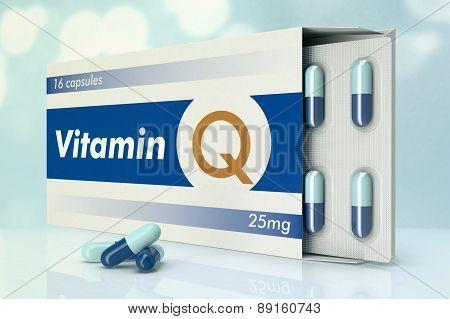 Vitamin Capsules, Q