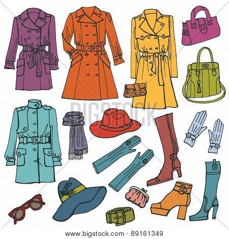 Fashion clothes set.Woman wear