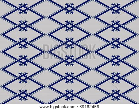 Abstract Geometric Seamless Pattern In Blue And Gray Colors