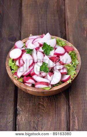 Radish Salad In Bowl