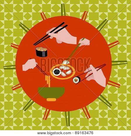 Chopsticks Collection - Illustration