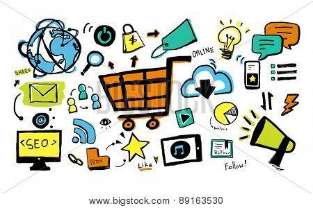 Online Marketing Business E-commerce Advertising Branding Concept