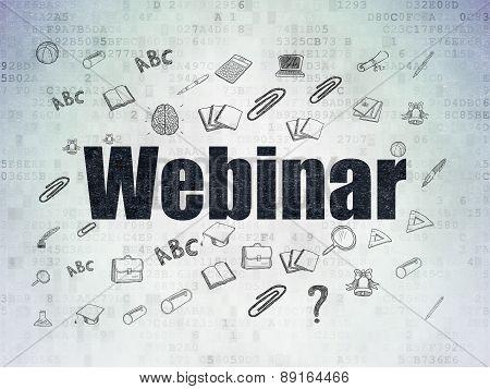 Education concept: Webinar on Digital Paper background