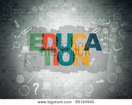 Education concept: Education on Digital Paper background