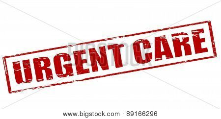 Rubber stamp with text urgent care inside vector illustration