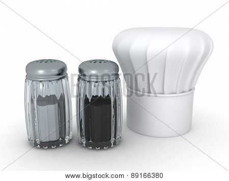 3D Salt, Pepper and Chef Hat