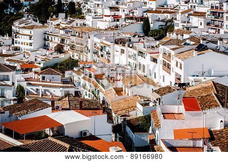 Charming Little White Village Of Mijas. Costa Del Sol, Andalusia. Spain