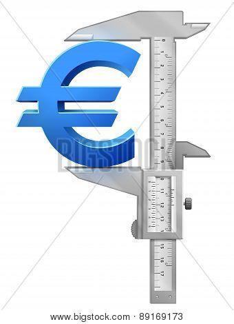 Caliper Measures Euro Symbol