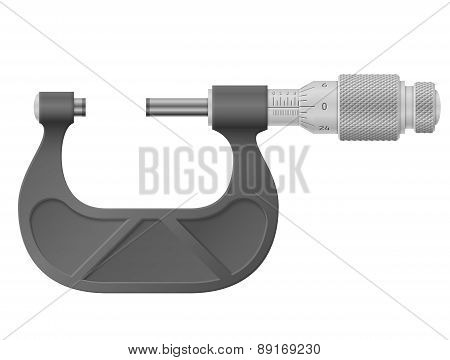 Micrometer Isolated On White