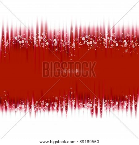 Red Waves Tape Background With Magic Lights
