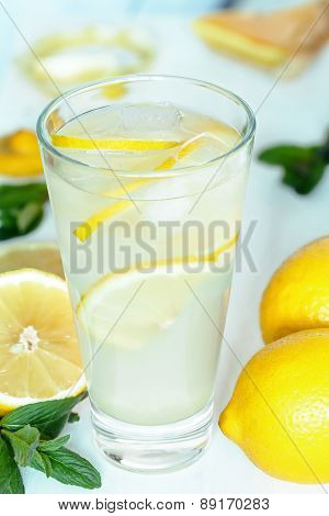 Tasty homemade lemonade summer refreshment beverage