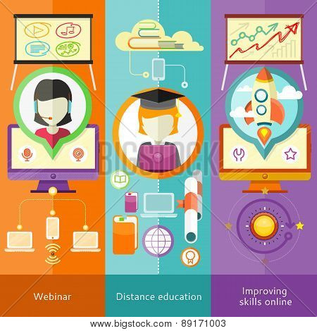 Webinar, Distance Education and Improving Skills