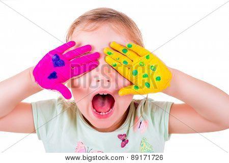 creative loud screaming little female