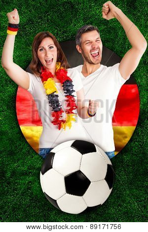 german football soccer fans happy winner